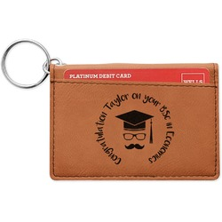 Hipster Graduate Leatherette Keychain ID Holder (Personalized)