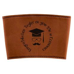 Hipster Graduate Leatherette Mug Sleeve (Personalized)