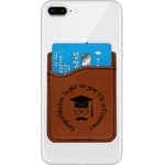 Hipster Graduate Leatherette Phone Wallet (Personalized)