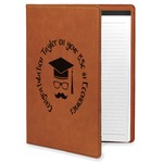 Hipster Graduate Leatherette Portfolio with Notepad (Personalized)