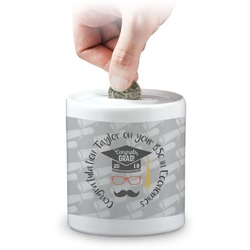 Hipster Graduate Coin Bank (Personalized)