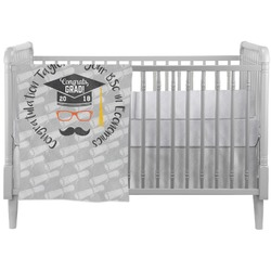Hipster Graduate Crib Comforter / Quilt (Personalized)