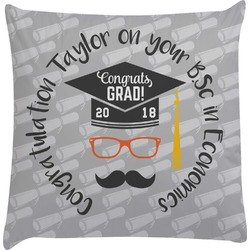 Hipster Graduate Decorative Pillow Case (Personalized)