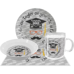 Hipster Graduate Dinner Set - 4 Pc (Personalized)