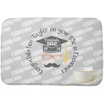 Hipster Graduate Dish Drying Mat (Personalized)