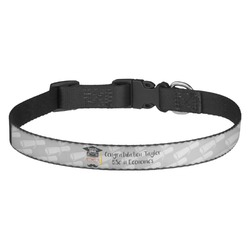 Hipster Graduate Dog Collar (Personalized)