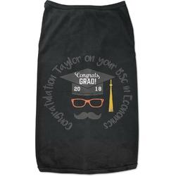 Hipster Graduate Black Pet Shirt (Personalized)