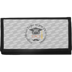 Hipster Graduate Canvas Checkbook Cover (Personalized)