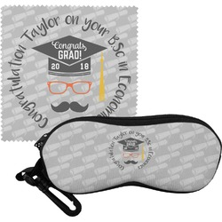 Hipster Graduate Eyeglass Case & Cloth (Personalized)