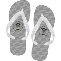 Hipster Graduate Flip Flops (Personalized)