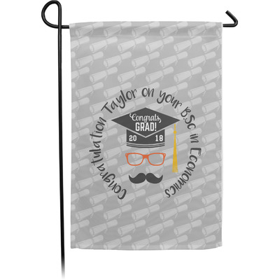 Hipster Graduate Garden Flag - Single or Double Sided (Personalized)