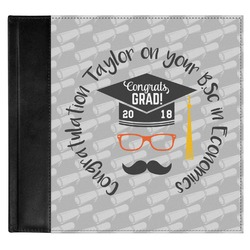Hipster Graduate Genuine Leather Baby Memory Book (Personalized)