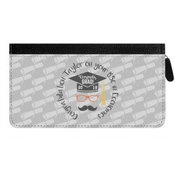 Hipster Graduate Genuine Leather Ladies Zippered Wallet (Personalized)
