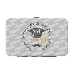 Hipster Graduate Genuine Leather Small Framed Wallet (Personalized)