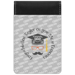 Hipster Graduate Genuine Leather Small Memo Pad (Personalized)