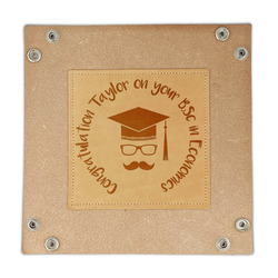 Hipster Graduate Genuine Leather Valet Tray (Personalized)