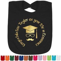 Hipster Graduate Foil Toddler Bibs (Select Foil Color) (Personalized)