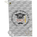 Hipster Graduate Golf Towel - Full Print (Personalized)