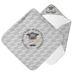 Hipster Graduate Hooded Baby Towel (Personalized)