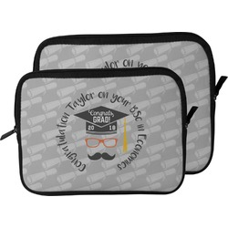 Hipster Graduate Laptop Sleeve / Case (Personalized)