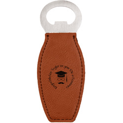 Hipster Graduate Leatherette Bottle Opener (Personalized)
