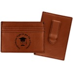 Hipster Graduate Leatherette Wallet with Money Clip (Personalized)