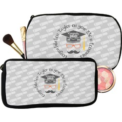 Hipster Graduate Makeup / Cosmetic Bag (Personalized)