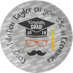 Hipster Graduate Melamine Plate (Personalized)