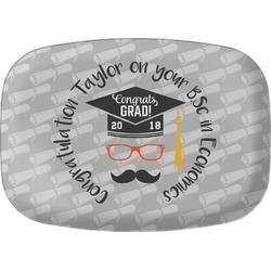 Hipster Graduate Melamine Platter (Personalized)