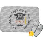 Hipster Graduate Memory Foam Bath Mat (Personalized)