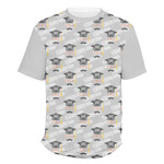 Hipster Graduate Men's Crew T-Shirt (Personalized)