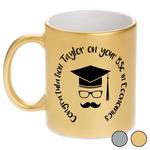 Hipster Graduate Metallic Mug (Personalized)