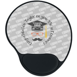 Hipster Graduate Mouse Pad with Wrist Support