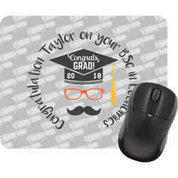 Hipster Graduate Rectangular Mouse Pad (Personalized)