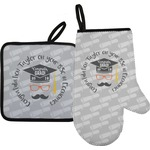 Hipster Graduate Oven Mitt & Pot Holder (Personalized)