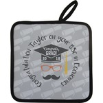 Hipster Graduate Pot Holder w/ Name or Text
