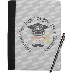 Hipster Graduate Notebook Padfolio (Personalized)
