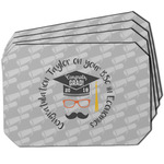 Hipster Graduate Dining Table Mat - Octagon w/ Name or Text