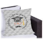 Hipster Graduate Outdoor Pillow (Personalized)