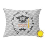 Hipster Graduate Outdoor Throw Pillow (Rectangular) (Personalized)