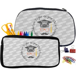 Hipster Graduate Pencil / School Supplies Bag (Personalized)