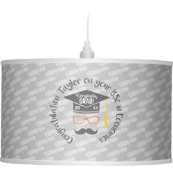 Hipster Graduate Drum Pendant Lamp (Personalized)