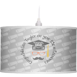 Hipster Graduate Drum Pendant Lamp (Personalized)