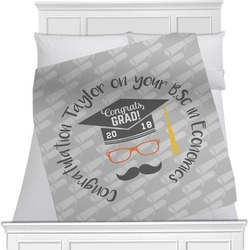 Hipster Graduate Minky Blanket (Personalized)