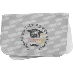 Hipster Graduate Burp Cloth (Personalized)