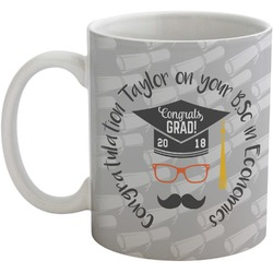 Hipster Graduate Coffee Mug (Personalized)