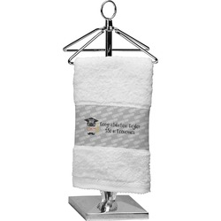 Hipster Graduate Cotton Finger Tip Towel (Personalized)