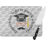 Hipster Graduate Rectangular Glass Cutting Board (Personalized)