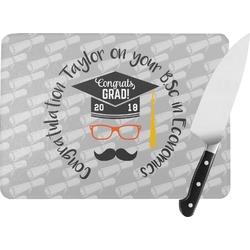 Hipster Graduate Rectangular Glass Cutting Board (Personalized)