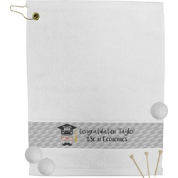 Hipster Graduate Golf Bag Towel (Personalized)
